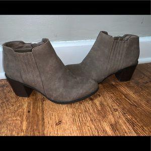 Woman's gray Arizona  booties